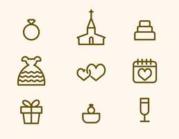 Icona di vettore di nozze gratis