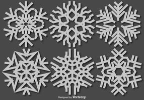 Icona di fiocchi di neve di vettore