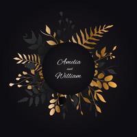 sfondo floreale per carta di invito a nozze vettore