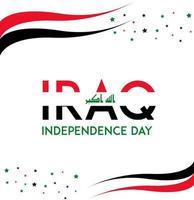 iraq giorno dell'indipendenza vettore