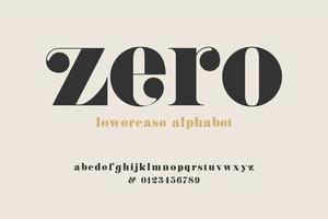 display moderno alfabeto swash vettore