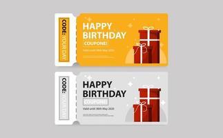 buono regalo di compleanno biglietto buono vettore