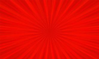fumetto pop art striscia rossa radiale vettore