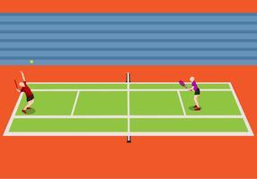 Illustrazione del torneo di tennis vettore