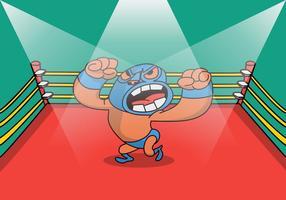 Illustrazione di campione di wrestling