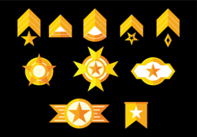 Vettore di distintivi di brigata