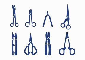 Icone di vettore di forbici
