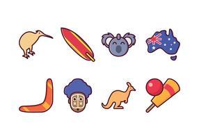 Set di icone Australia gratuito vettore