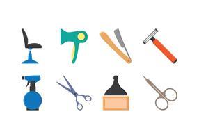 Set di icone del barbiere gratuito