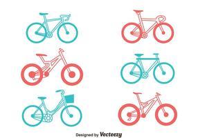 Set di biciclette vettoriale