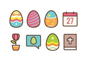 Set di icone di Pasqua gratis