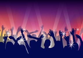 Vettore di ballo del partito delle siluette della gente