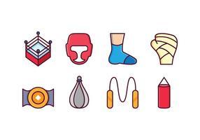 Set di icone di boxe gratis