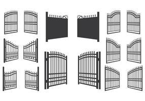 Illustrazione vettoriale di cancello aperto