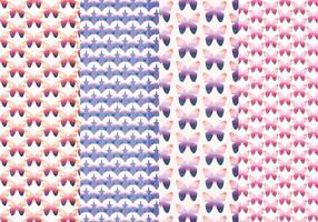 Vector modelli di farfalle colorate
