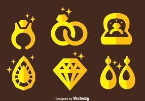 Vettore delle icone dei gioielli