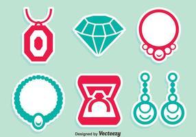 Vettore delle icone del gioiello dei gioielli