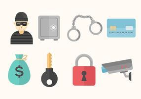 Icone vettoriali gratis di furto