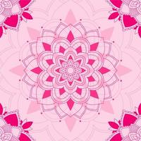 modello mandala su sfondo rosa