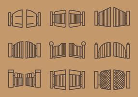 Vettore libero delle icone del cancello aperto