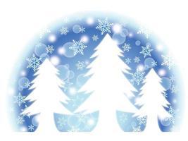 semicerchio alberi di natale inverno design