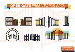 pacchetto vettoriale gratuito di gate aperto