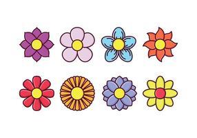 Set di icone di fiori gratis vettore