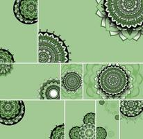 bellissimo set di sfondo design mandala