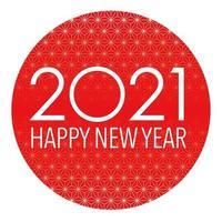 Segno rotondo di auguri di capodanno 2021