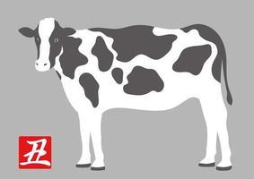 disegno della mucca per l'anno del bue