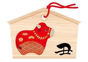 decorazione giapponese per il nuovo anno del bue