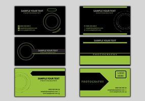Modello di fotografia di carta di nome aziendale vettore