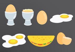 Omelette icone vettoriali