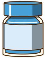 acquerello blu in bottiglia su sfondo bianco