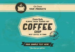 Vettore sempre caldo, sempre fresco di caffè