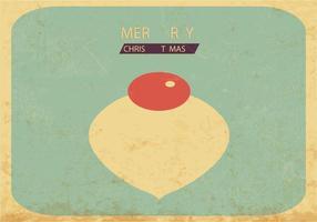 Vettore d'annata dell'ornamento di Natale