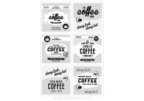 Vettore di marchi caffè vintage
