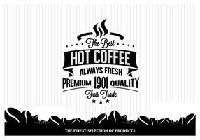 Vettore minimalista del caffè caldo
