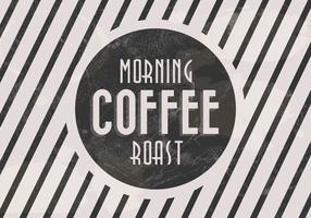 Vettore di caffè arrosto di mattina