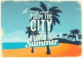 Poster Spiaggia incoraggiante vettore