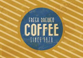 Vettore di caffè d'epoca