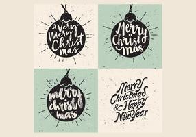 Vettore di Natale del canto dell'ornamento
