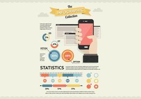 Vettore di infografica palmare
