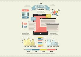 Vettore di infografica di dati e tablet