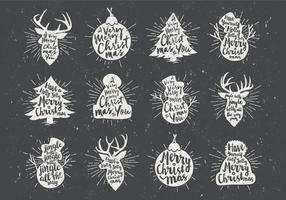 Vettore dell'icona di Natale della lavagna