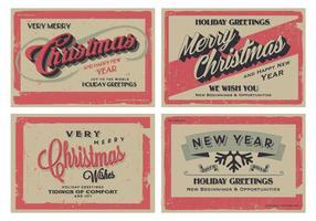 Vettore d'annata delle cartoline d'auguri di festa