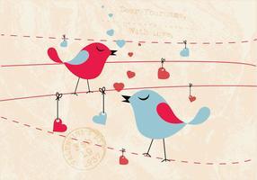 Vettore di Tweeting degli uccelli canori