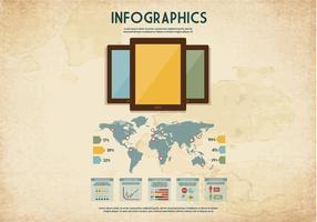 Tablet infografica vettoriale