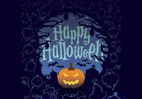 Jack-O-Lantern Halloween vettoriale