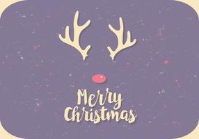 Rudolph il vettore del profilo della renna dal naso rosso